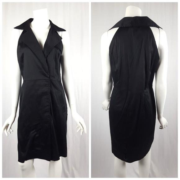 28a23e2102e0 Ann Taylor Sleeveless Halter Trench Dress Black. M_5a6b4cba077b97db6b6ddc10